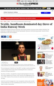 Pairahann in Media Indian Express